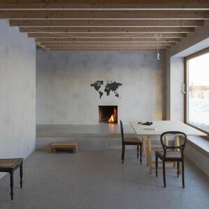 MiMi Innovations Luxury fekete világtérkép fali dekoráció 90 x 54 cm