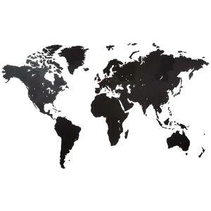 MiMi Innovations Giant fekete világtérképes fali dísz 280 x 170 cm