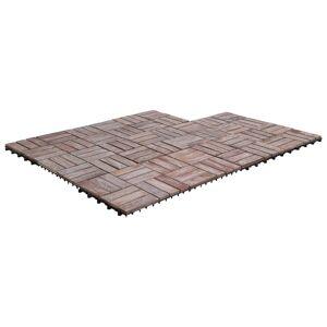 vidaXL 11 db tömör újrahasznosított fa padlólap 30 x 30 cm