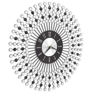 vidaXL fekete fém falióra 43 cm