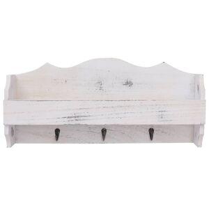 vidaXL fehér fa fali fogas 50 x 10 x 23 cm