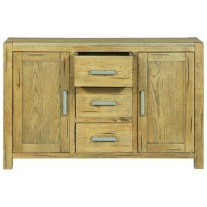 vidaXL rusztikus tölgyfa tálalószekrény 110 x 35 x 70 cm