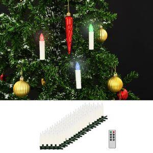 vidaXL 100 db karácsonyi vezeték nélküli RGB LED gyertya távirányítóval