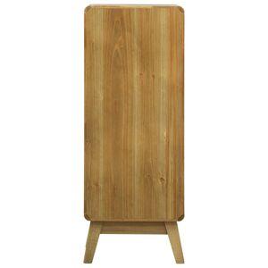 vidaXL barna fa tálalószekrény 5 fiókkal 37 x 30 x 97,5 cm