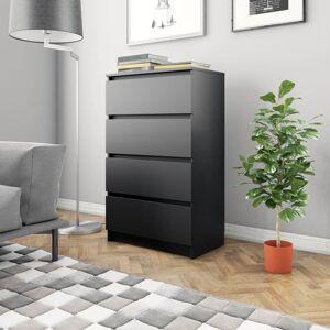 vidaXL fekete forgácslap tálalószekrény 60 x 35 x 98,5 cm