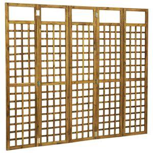 vidaXL 5-paneles tömör akácfa szobaelválasztó/paraván 200 x 170 cm