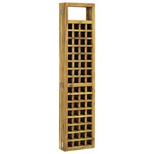 vidaXL 6-paneles tömör akácfa szobaelválasztó/paraván 240 x 170 cm