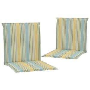 vidaXL 2 db többszínű párna kerti székhez 100 x 50 x 3 cm