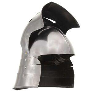 vidaXL ezüstszínű antik középkori lovagi acélsisak LARP másolat