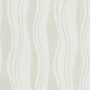 vidaXL 2 db fehér hullám mintás nem szőtt tapétatekercs 0,53 x 10 m