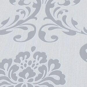 vidaXL 2 db fehér díszes nem szőtt tapétatekercs 0,53 x 10 m