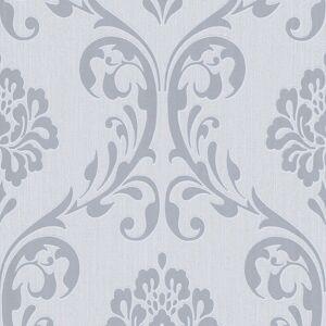 vidaXL 4 db fehér díszes nem szőtt tapétatekercs 0,53 x 10 m
