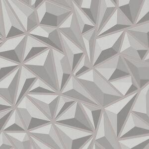 vidaXL 4 db fehér grafikás nem szőtt tapétatekercs 0,53 x 10 m