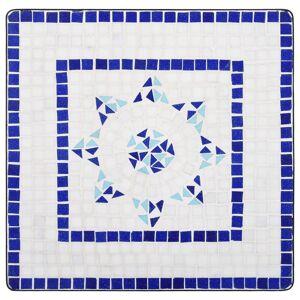 vidaXL 3-részes kék és fehér kerámia mozaikos bisztrószett
