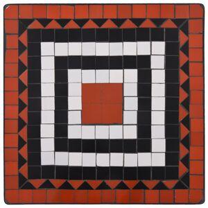 vidaXL 3-részes terrakotta és fehér kerámia mozaikos bisztrószett