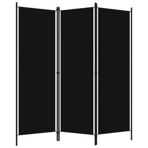 vidaXL fekete 3 paneles paraván 150 x 180 cm