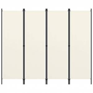 vidaXL krémfehér 4 paneles paraván 200 x 180 cm