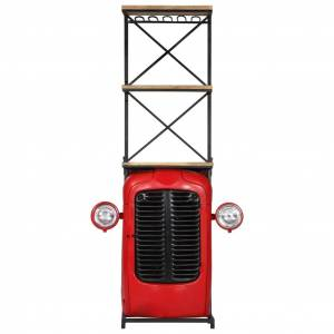 vidaXL tömör mangófa traktor borszekrény 49 x 32 x 183 cm