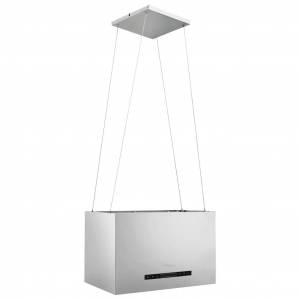 vidaXL rozsdamentes acél LCD érintőképernyős sziget páraelszívó 55 cm
