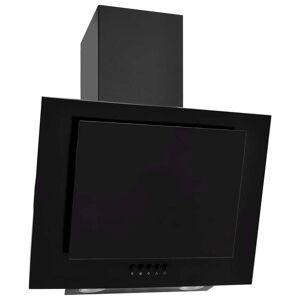 vidaXL fekete rozsdamentes acél és edzett üveg fali páraelszívó 60 cm