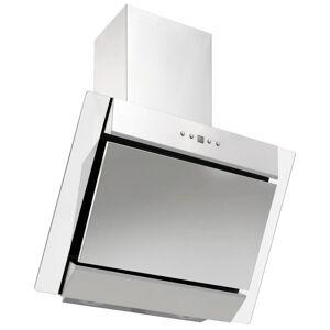 vidaXL ezüstszínű rozsdamentes acél és edzett üveg páraelszívó 60 cm