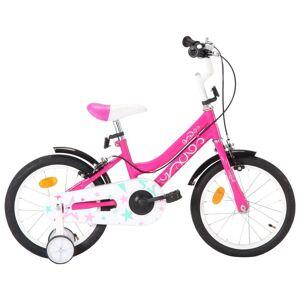vidaXL fekete és rózsaszín gyerekbicikli 16