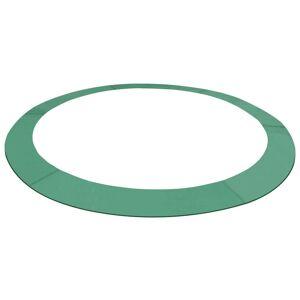 vidaXL zöld PE biztonsági párna kerek trambulinhoz 15 láb/4,57 m