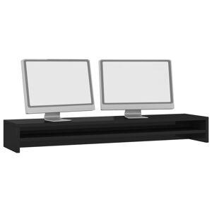 vidaXL magasfényű fekete forgácslap monitorállvány 100 x 24 x 13 cm