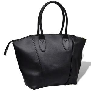 vidaXL Négyzetes táska fekete