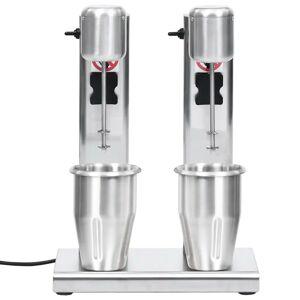 vidaXL rozsdamentes acél turmixgép két csészével 2 L