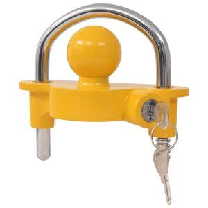 vidaXL kapcsolófejzár acélból és alumíniumból 2 kulccsal sárga