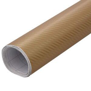 vidaXL matt aranyszínű 4D autófólia 500 x 152 cm