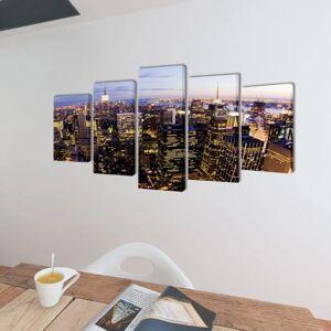 vidaXL Vászon falikép new york-i Skyline kilátás 100x50cm