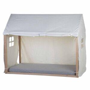 CHILDHOME fehér házikó ágy ponyva 210 x 100 x 150 cm