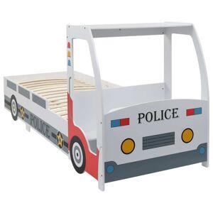 vidaXL rendőrautó formájú gyerekágy asztallal 90 x 200 cm
