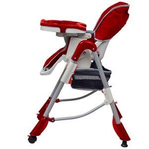 vidaXL piros állítható magasságú deluxe baba etetőszék
