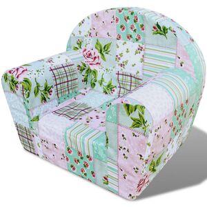 vidaXL Virág mintájú gyerek fotel