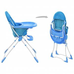 vidaXL kék és fehér babaetetőszék
