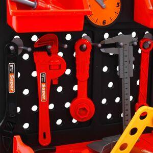 vidaXL 51 darabos munkapados gyerekjátékkészlet 57 x 32 x 68 cm