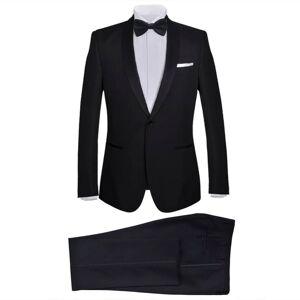 vidaXL 2 db Black Tie Tuxedo férfi szmoking méret 52 fekete