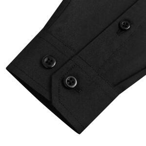 vidaXL Hosszú ujjú gyerek ing méret 116-122 sima fekete