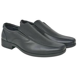 vidaXL Férfi félcipő fekete 40- es méret PU bőr