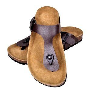 vidaXL barna női bio parafa flip flop dizájnú papucs 36-os méret