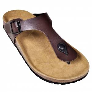 vidaXL barna női bio parafa flip flop dizájnú papucs 40-es méret