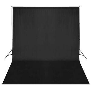 vidaXL fekete háttértartó rendszer 300 x 300 cm