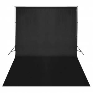 vidaXL fekete pamut háttér 500 x 300 cm