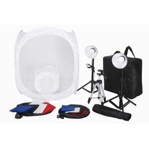 vidaXL Stúdió felszerelés: 8 Háttér, 3 Állvány és 2 x 4 W Lámpa