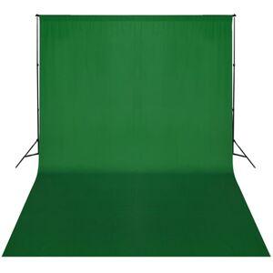 vidaXL zöld háttér állványrendszer 300 x 300 cm
