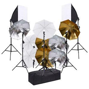 vidaXL fotóstúdió-felszerelés világítószettel és softboxokkal