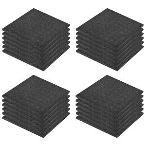 vidaXL 24 darab fekete esésvédő, ütéscsillapító gumilap 50 x 50 x 3 cm